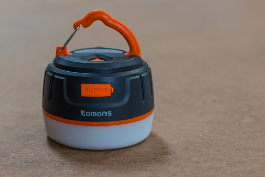 The Tomons Power Pack and Lantern can charge your phone and light your way.