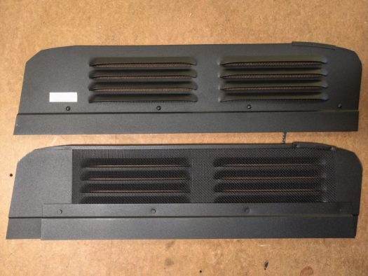 The two vents, straight out of the box