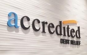 accredited debit relief reception sign