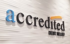 accredited debit relief reception sign