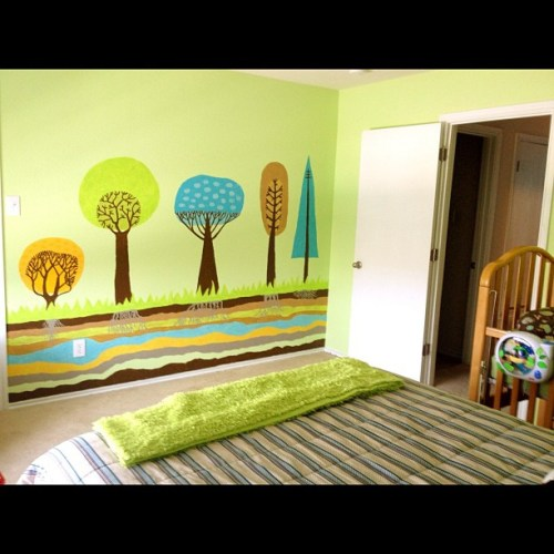 """Home tour... Bedroom 3, """"the green room""""... My favorite! ❤"""