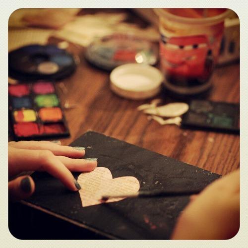 Watercolors, brushes, water, teenager ♥ ...