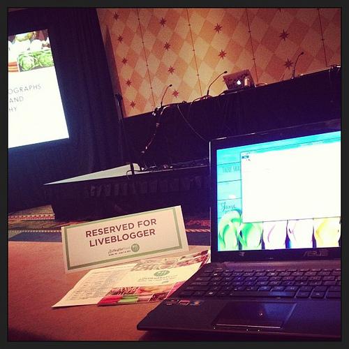 Working ... #blogherfood #liveblogging