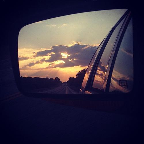 Twilight and tail lights. #roadtrip #sunset #igtexas