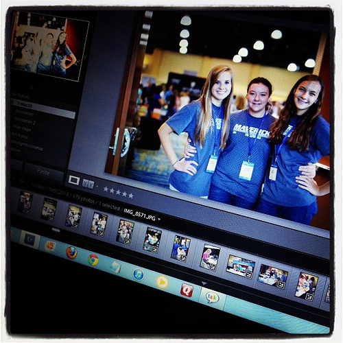 Editing the #thsc convention pix.
