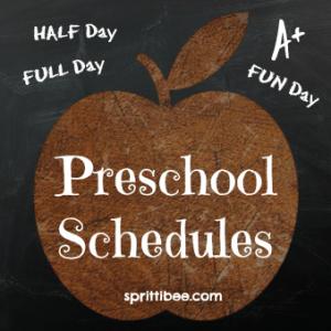 preschool-schedule