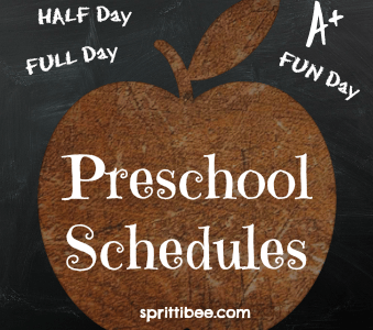 Perfecting Preschool: Schedule