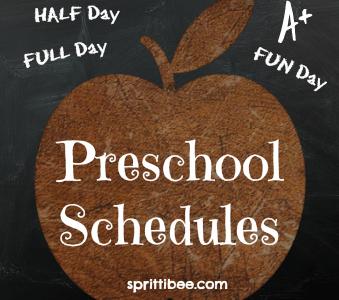 Perfecting Preschool: Schedule