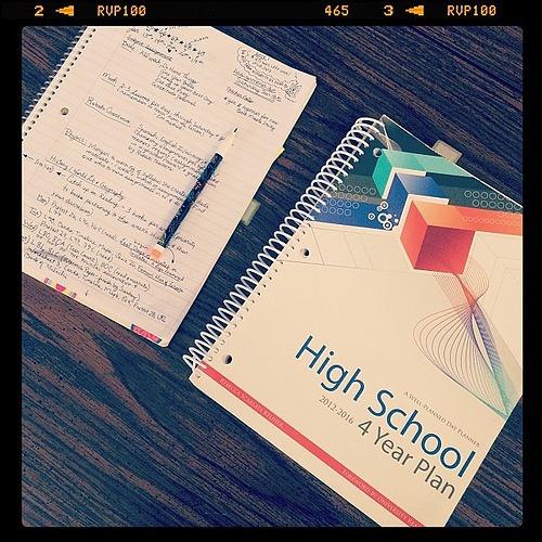 Sprittibee's high school homeschool planner and weekly list routine.