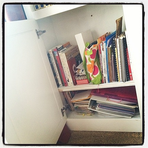 The rest of the cookbooks, recipes, coupons, menus, magazines and homemaking helps.