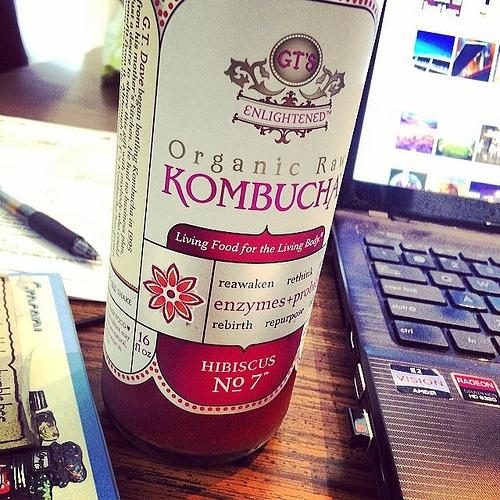 Hibiscus #7 ™ Kombucha from GT's Enlightened Organic Raw Kombucha line - yum!