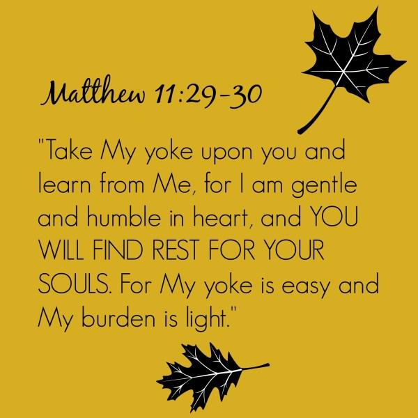 His Yoke is Easy, His Burden Light