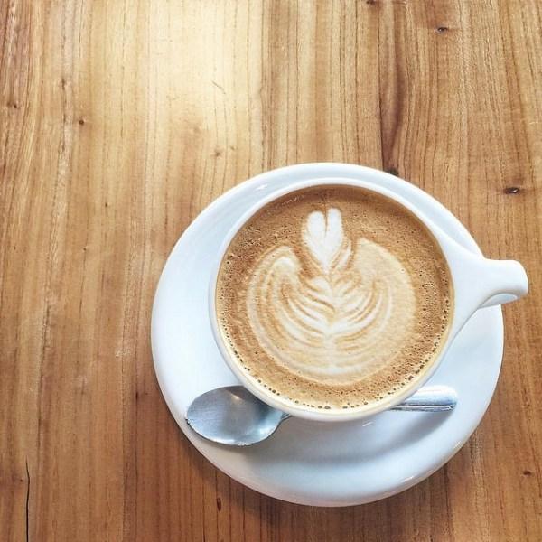 Houndstooth latte art