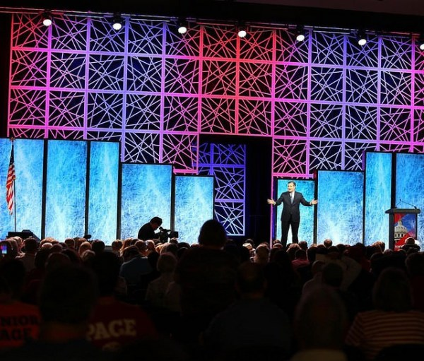 Stage at TX GOP Convention