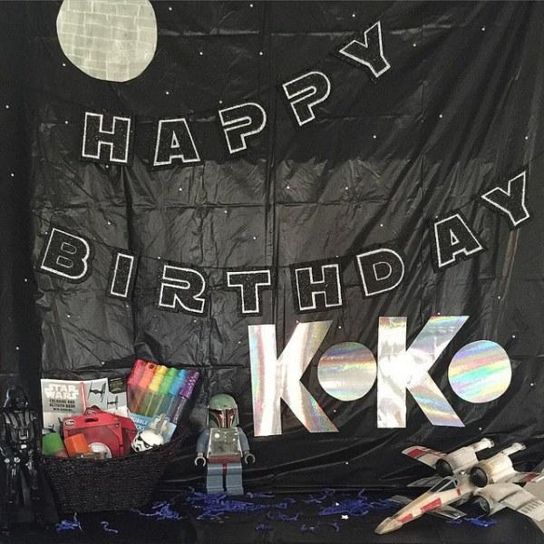Star Wars Themed Birthday Backdrop by @sprittibee