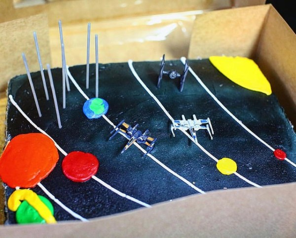 Star Wars in our Solar System Cake Idea by @sprittibee