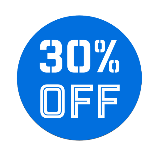 30%OFF - Blue Tag