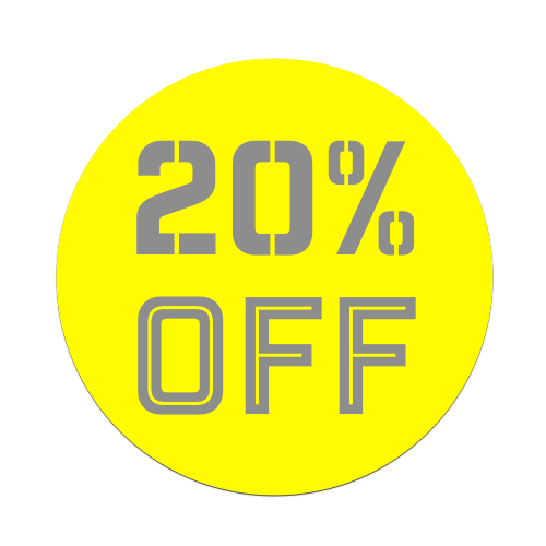 20%OFF - Yellow Tag
