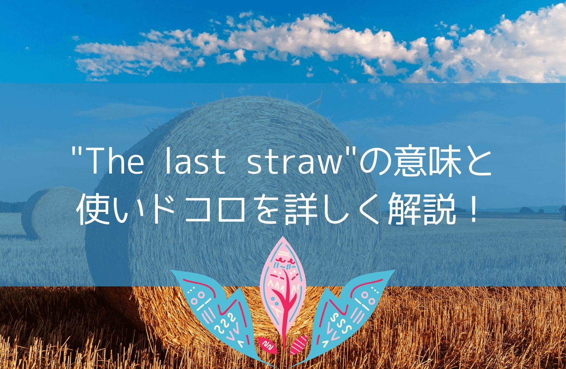 The last strawの意味と使いドコロを詳しく解説!