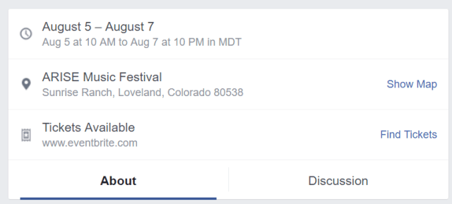 Facebook Events Date