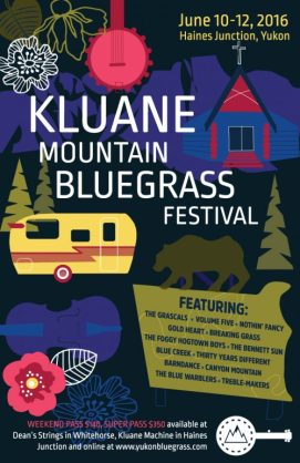 2016 Kluane Mountain Bluegrass Festival poster