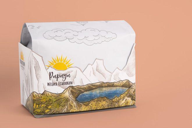 Boomtown bag with orange background