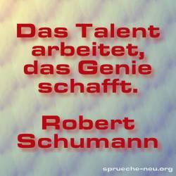 lustiger Spruch Talent, Genie