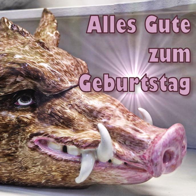 Glückwunsch zum Geburtstag, Schwein, Wildschwein