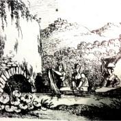 Illustrazione lavandaie marchigiane