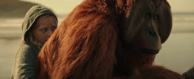 War-for-the-Planet-of-the-Apes-beach-maurice-on-horseback-with-girl