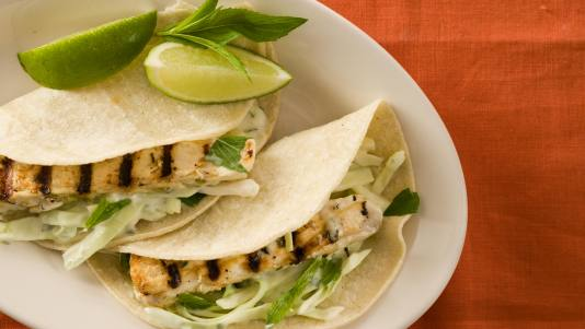 Mojito-Grilled Fish Tacos
