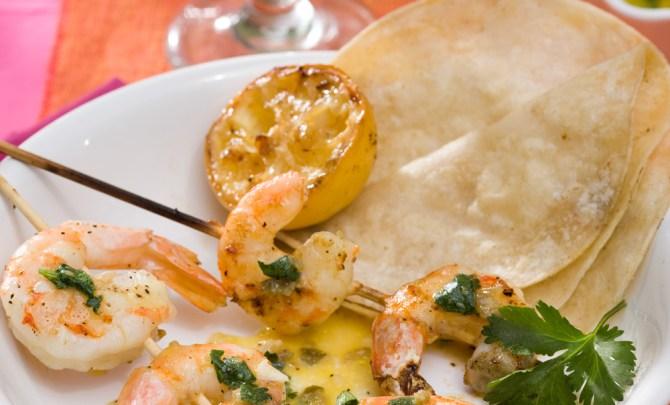 Grilled Shrimp with Orange and Habanero Mojo