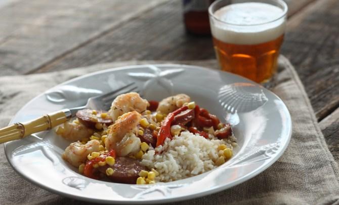 shrimp with sausage