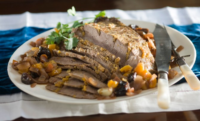 Beef Brisket with Apricots and Prunes