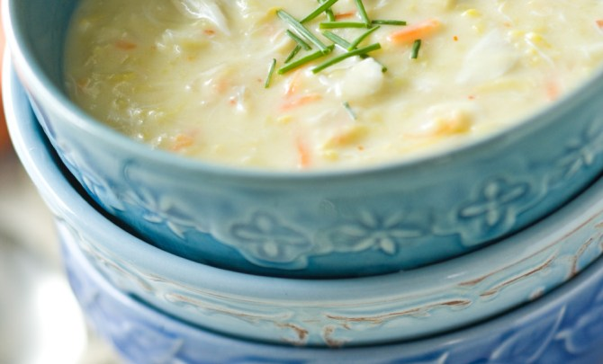 squash and crab soup