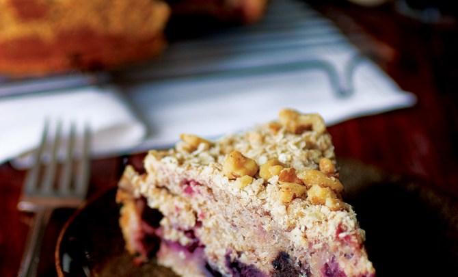 Mixed Berry Whole Grain Coffee Cake