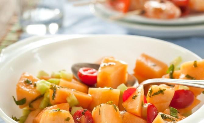 Cantaloupe Tomato Salad