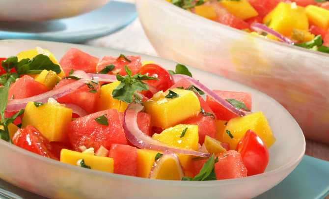 mango and watermelon salad