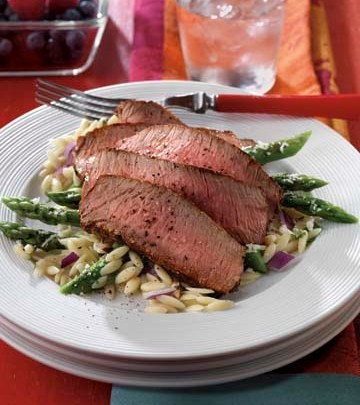 grilled-peppery-steak-parmesan-asparagus-relish-recipe