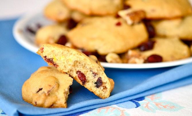 lemon-cranberry-muffin-tops