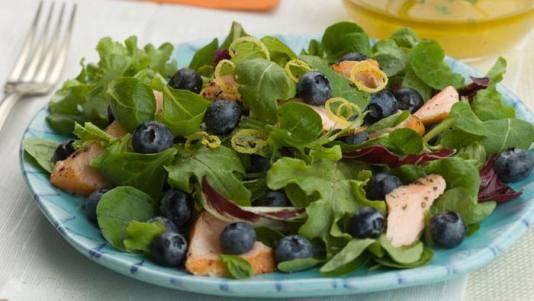 salmon blueberry lemon salad recipe