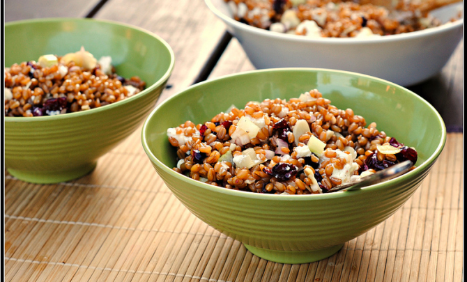 crunchy-wheat-berry-whole-grain-salad-cranberry-goat-cheese-health-spry