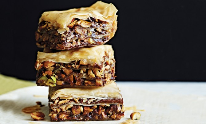Chocolate Baklava recipe from Cooking Light's New Way to Cook Light Cookbook.