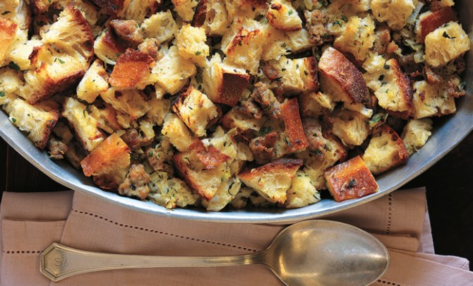 Sausage Sourdough Bread Stuffing recipe from Cooking Light The New Way to Cook Light: Fresh Food & Bold Flavors for Today's Home Cook by Editors of Cooking Light.