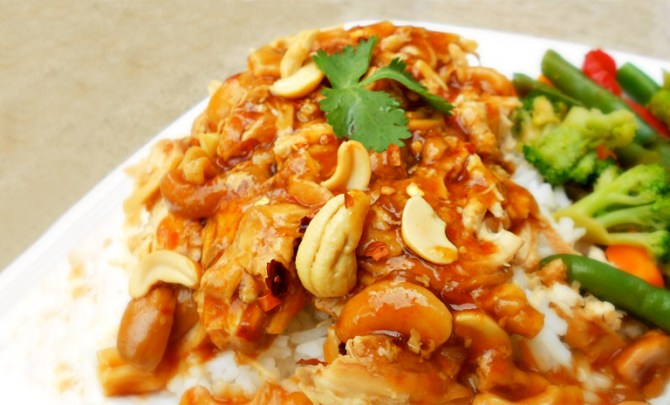 Easy Chinese Cashew Chicken recipe made in the Crock Pot or slow cooker.