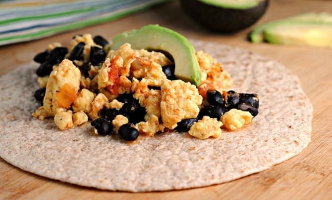 Black Bean and Egg Breakfast Burrito recipe.