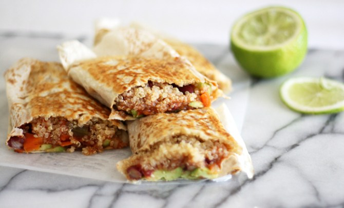Spicy Vegan Mexican Quinoa Wraps recipe
