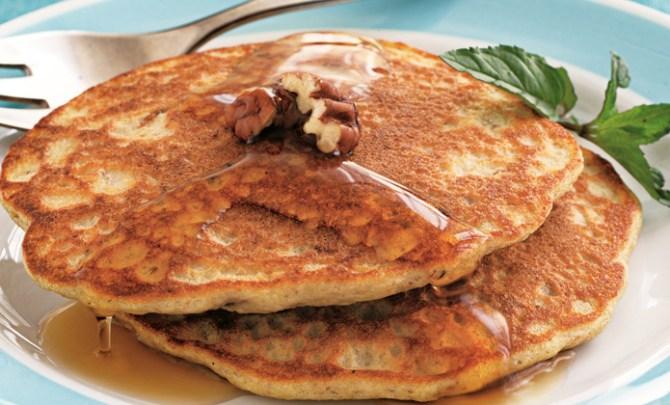 Atkins Spicy Pecan Pancakes recipe.