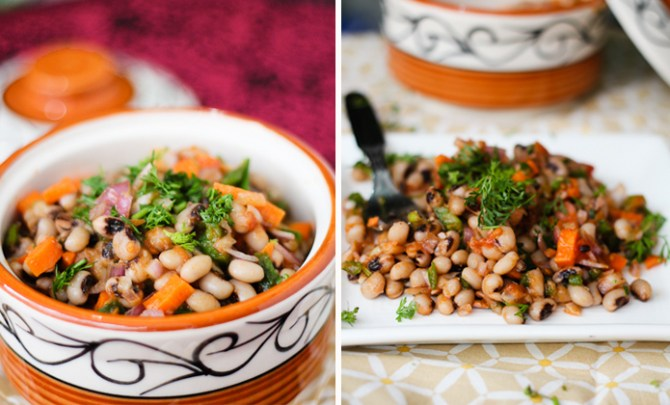 Black-Eyed Pea and Stewed Tomato Salad recipe.