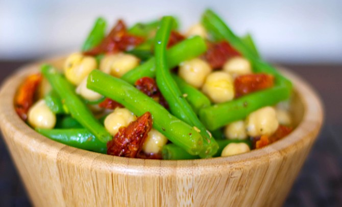 Mediterranean Garbanzo Green Bean Salad.